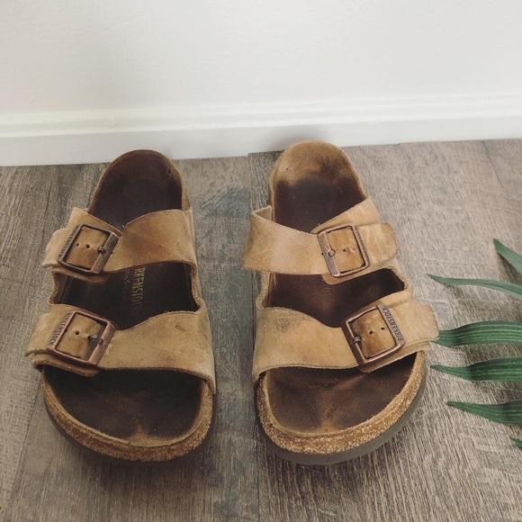 Men's Leather Birkenstock Double Strap Sandals